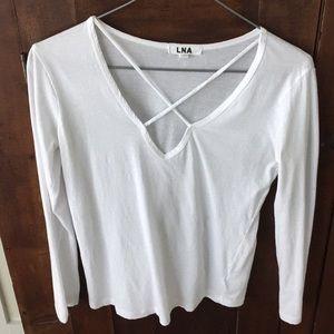 White LNA long sleeve shirt